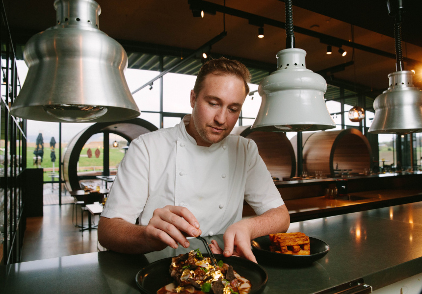 Levantine Hill executive chef Luke Headon.