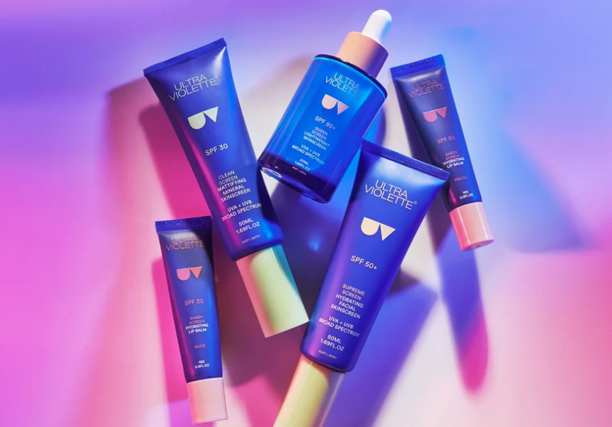 A selection of sunscreen products by Ultra Violette