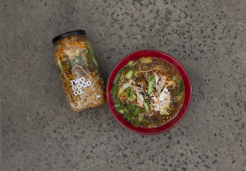 Peter Gilmore's kimchi chicken soup