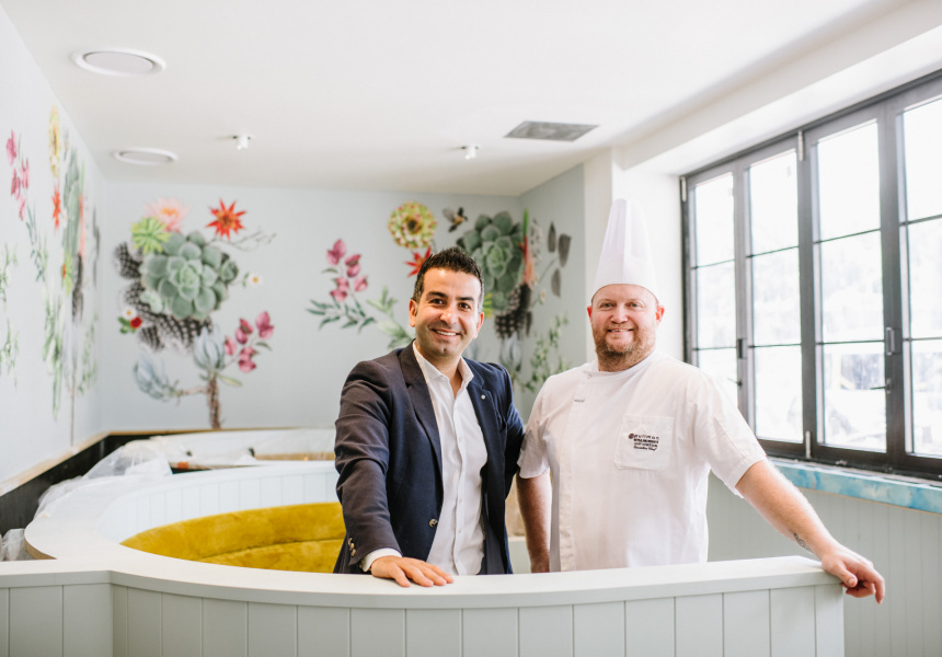 Pullman Hotel's food and beverage director Ahmad Ghaddar and head chef Gary Howieson