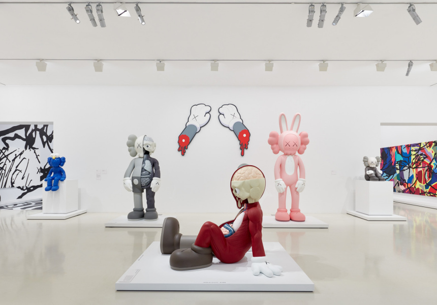 Installation view of KAWS: Companionship in the Age of Loneliness at NGV International, Melbourne 20 September 2019 – 13 April 2020