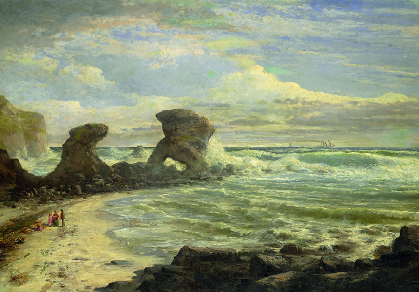 Louis Buvelot, At Point Nepean 1875 - Coast at Mornington Peninsula Regional Gallery