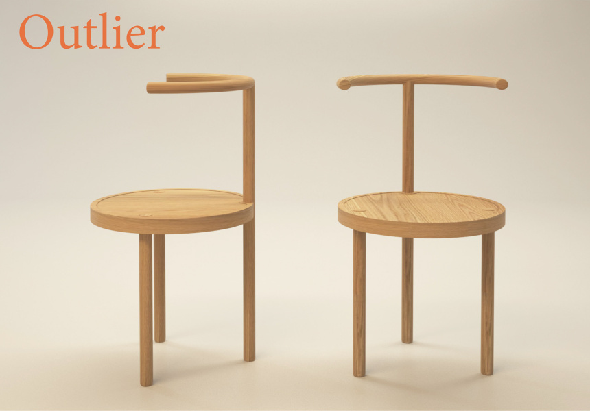 Bianca Isgro's shortlisted design, Outlier.