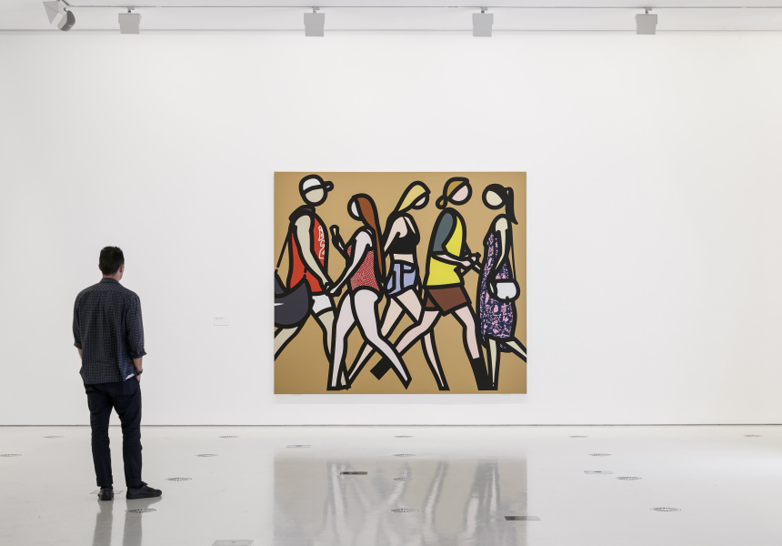 Installation view of Julian Opie exhibition space at NGV International running from 9 November 2018 – 17 February 2019