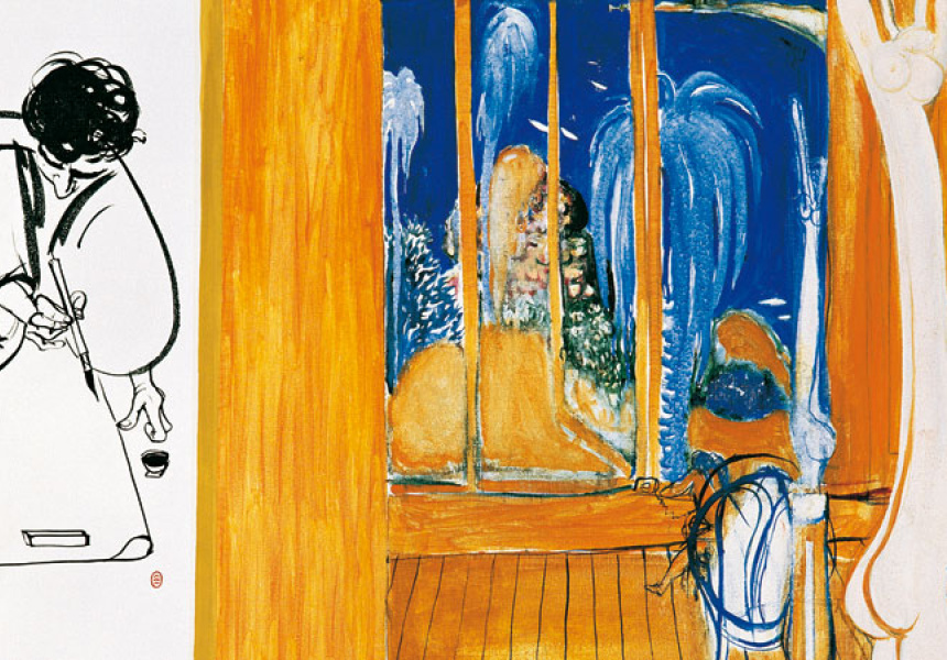 Brett Whiteley The telephone 1976 oil on canvas 91.8 x 91.3 cm Gift of Eva and Marc Besen 2002, TarraWarra Museum of Art collection Copyright Wendy Whiteley
