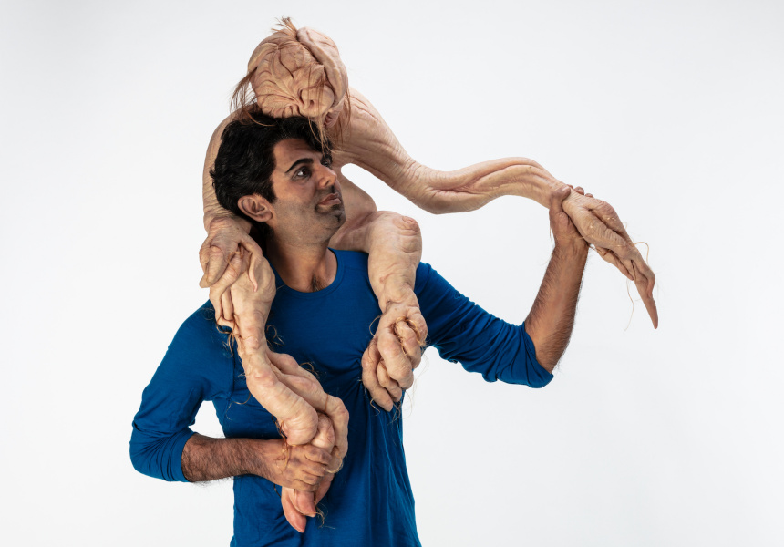 Patricia Piccinini Sapling, 2020 Silicone, Fibreglass, hair, clothing 201 x 94 x 46 cm Edition of 3 + 1 AP