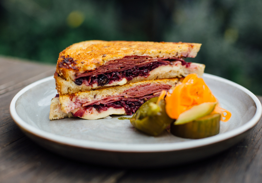 Reuben sandwich at Pope Joan