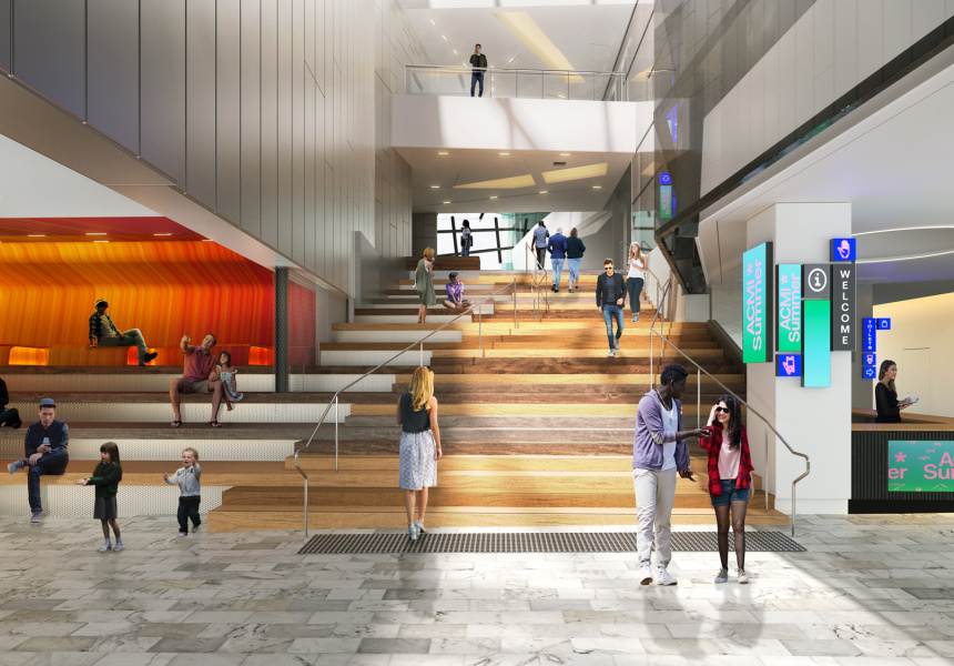 Render of ACMI after the redevelopment