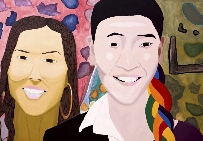 Studio A: Jaycee Kim, Love owls and mermaids singing in the rainbow pop (detail), 2020, Art Gallery of New South Wales.
