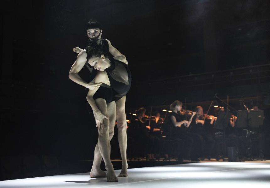 Dancers Juliette Barton and Thomas Bradley in 'Les Illuminations'