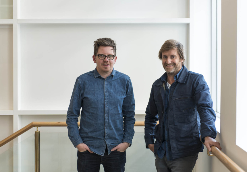 Left: Jardan's head designer, Tom Shaw.  Right:  Jardan co-owner and designer, Nick Garnham.