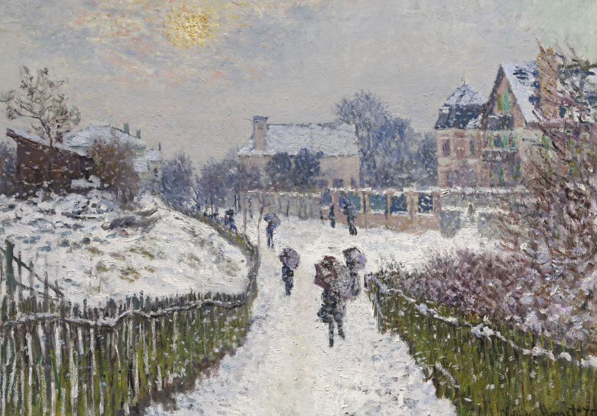 Claude Monet French 1840–1926 Boulevard Saint-Denis, Argenteuil, in winter 1875 oil on canvas 60.9 x 81.6 cm Museum of Fine Arts, Boston Gift of Richard Saltonstall