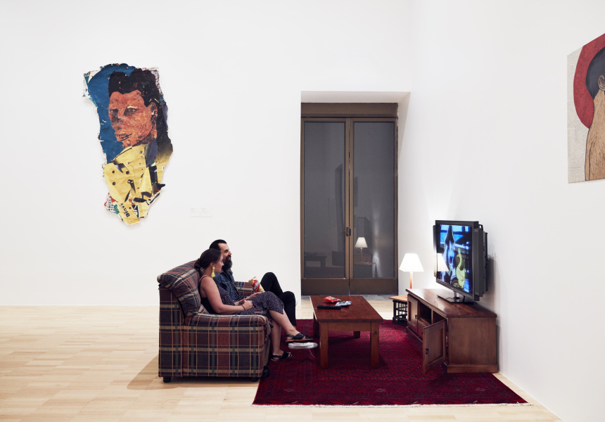 Installation view of Einat Amir, Coming soon near you, 2011–17, on display in NGV Triennial at NGV International, 2017