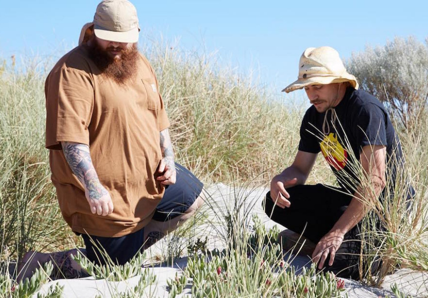 "Paul ""Yoda"" Iskov with American rapper Action Bronson."