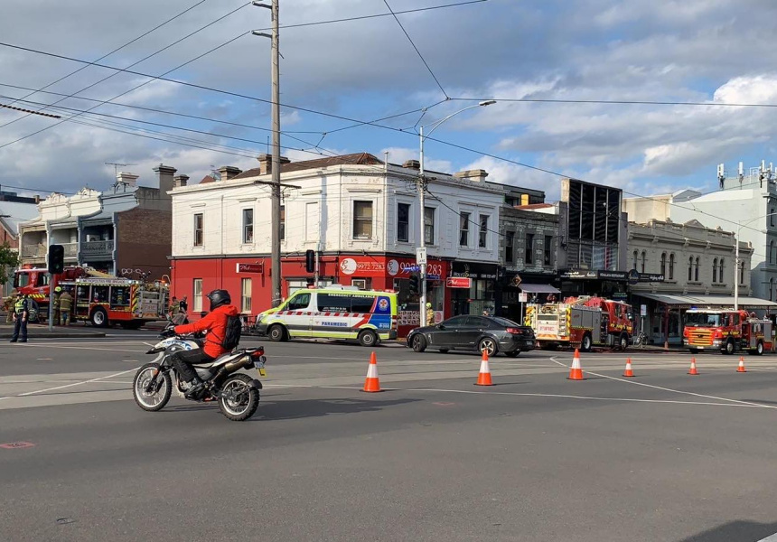 Parts of Victoria Street were closed on Friday as the fire was brought under control.