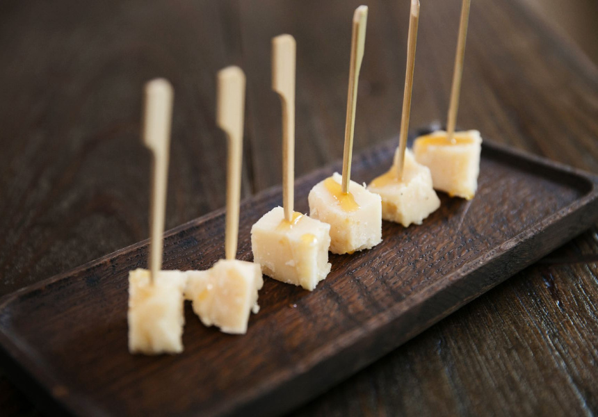 Aged Parmigiano-Reggiano with truffle honey