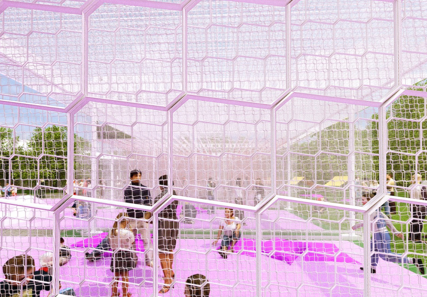 Haven't you always wanted to run through all that foam at the car lovers? by M@ STUDIO Architects for the 2016 NGV Architecture Commission.