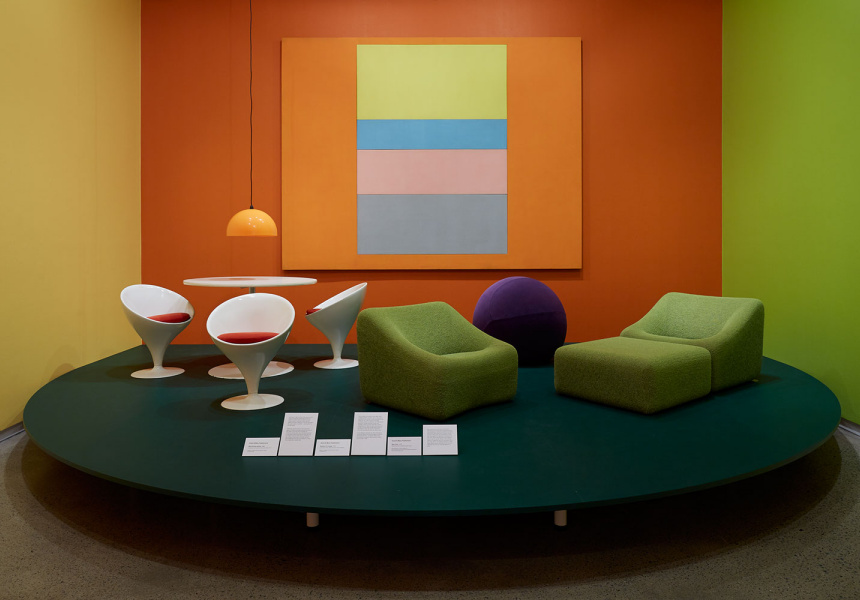 Installation view.  Design for Life: Grant and Mary Featherston. Heide Museum of Modern Art, Melbourne