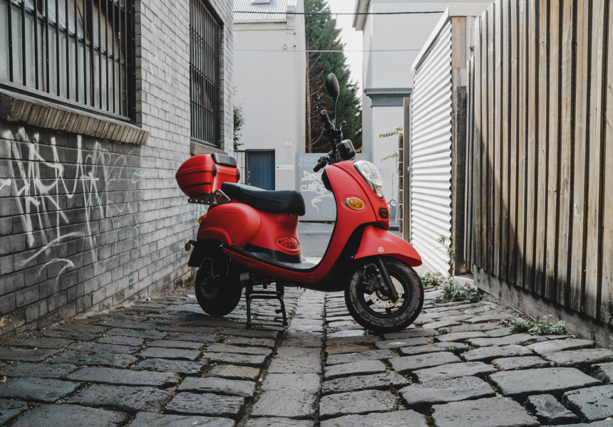 A Zero-Emission Electric Scooter to Zip Around the City On
