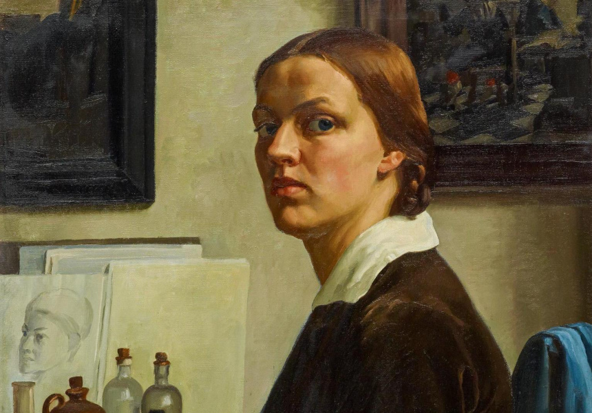 Nora Heysen Self-portrait 1932 oil on canvas 76.2 x 61.2 cm Art Gallery of New South Wales, Sydney. Gift of Howard Hinton 1932 (943) © Lou Klepac