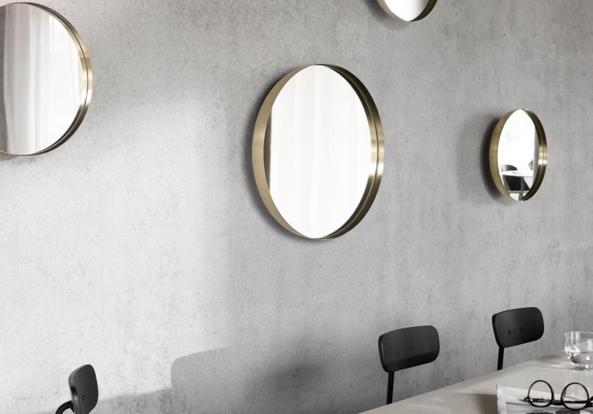 Darkly Brass Mirror, RRP $900.