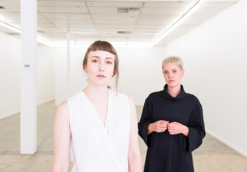 Mia Van den Bos and Ashleigh D'Antonio at Sister Gallery