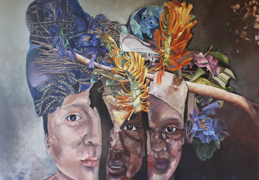 Maria Pena's What are the colours of your Roots, 2015.