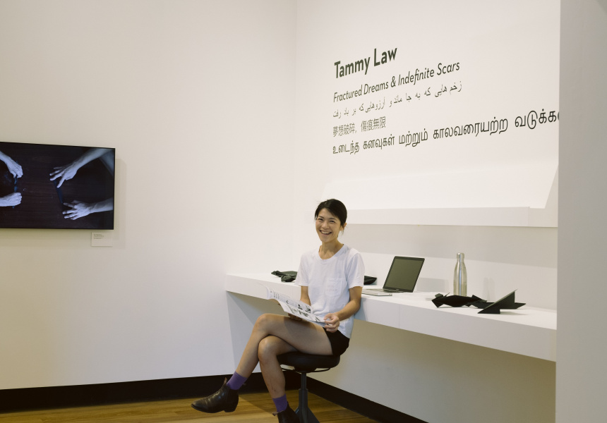 Artist in Residence Tammy Law in Fractured Dreams & Indefinite Scars, Museum of Brisbane