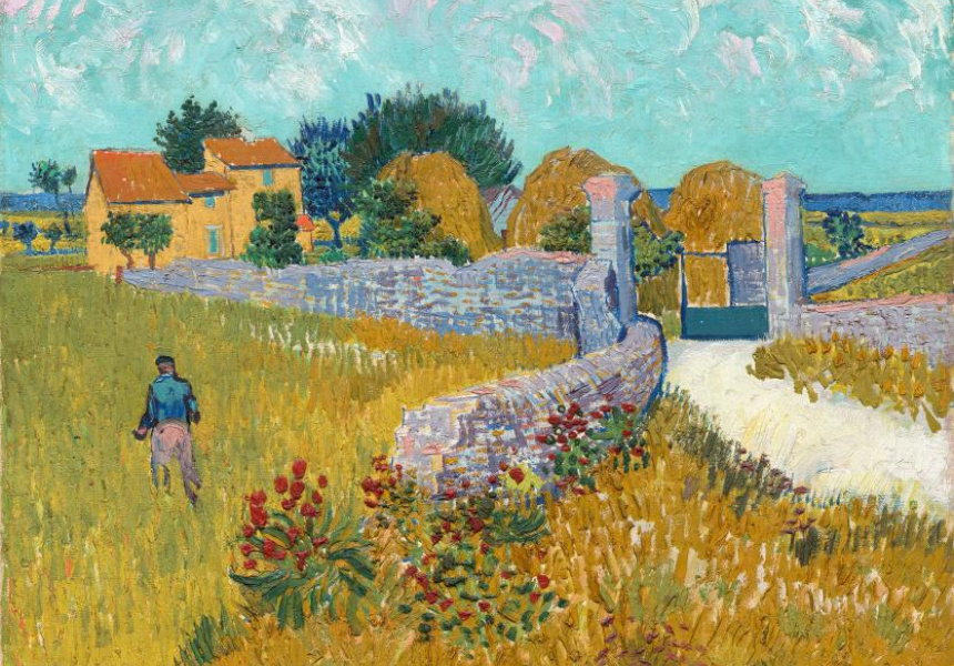 "Vincent van Gogh, ""Farmhouse in Provence"" (June 1888) Arles"