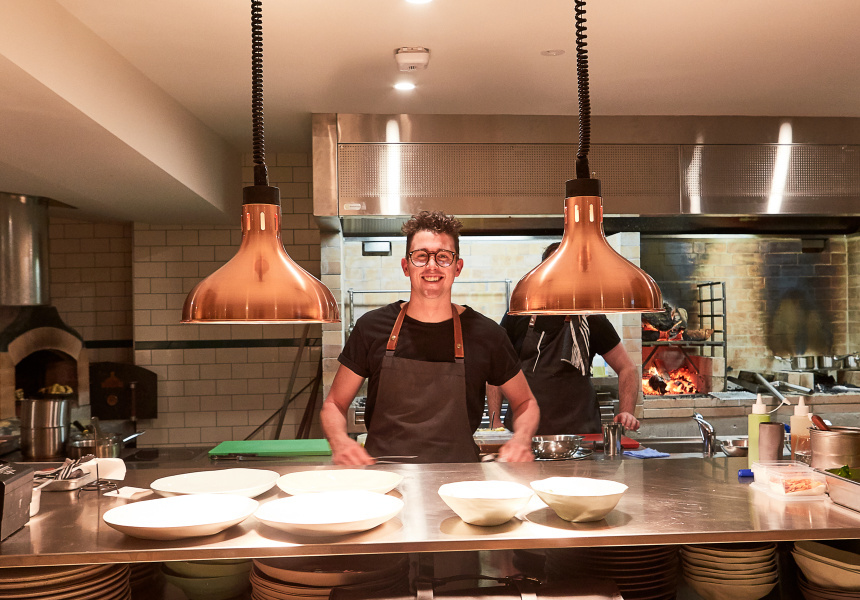 Owner-chef Charlie Carrington at Atlas Dining