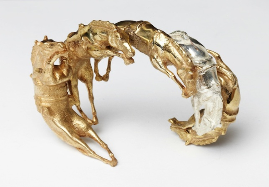 Galloping horse bracelet