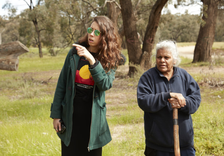 Kimberley Moulton and Aunty Esther Kirby at Gunbower Island, 2017