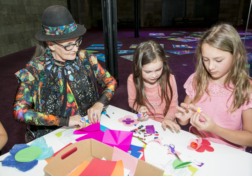 Kids workshops at NGV