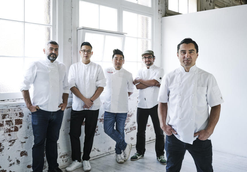 Left to right: Frank Camorra, Victor Liong, Adrian Li, Mirco Speri, Matt Germanchis