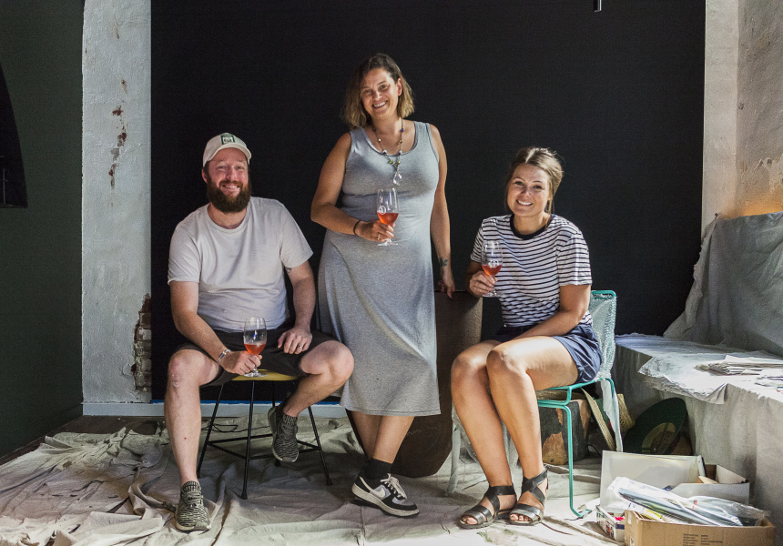 Ben Atkinson, Colleen Carney and Alana Robeson of Bayswater's King Somm.