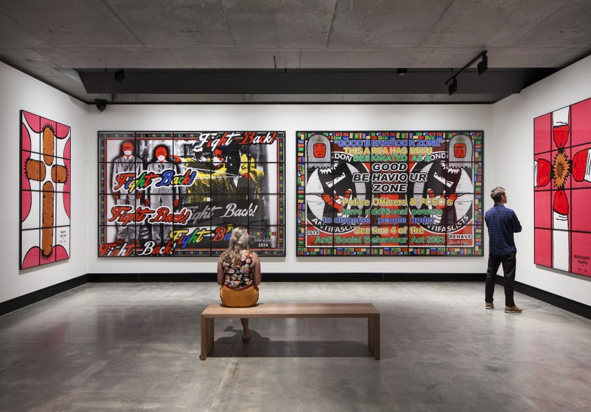 Gilbert & George: The Art Exhibition, on display at MONA until March 28, 2016.