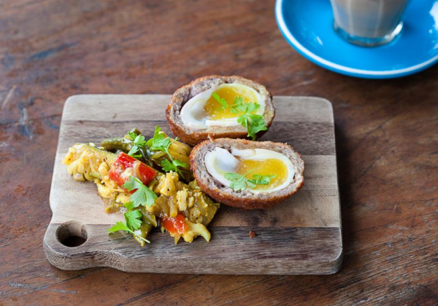 Orto Trading Co. – Scotch Duck Egg with Orto's Piccalilli