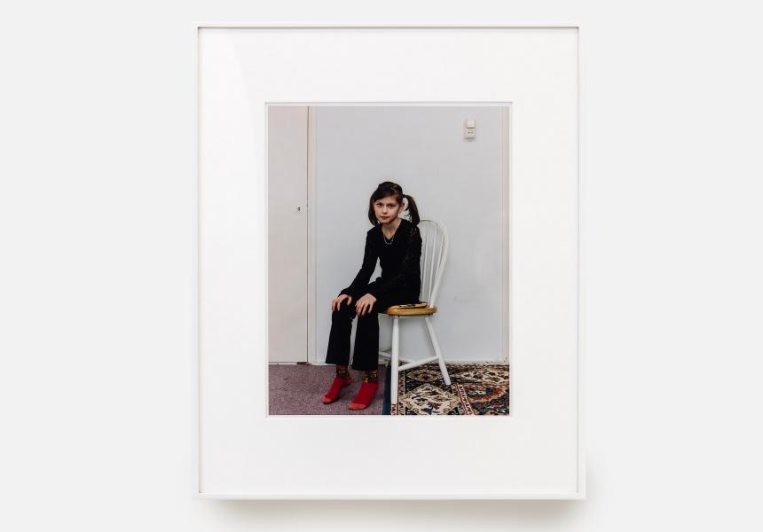 Rineke Dijkstra Dutch born 1959 Almerisa, Wormer, the Netherlands February 21, 1998 chromogenic colour photograph 35.0 x 28.0 cm The Museum of Modern Art, New York. Horace W. Goldsmith Fund through Robert B. Menschel, 2005 © Rineke Dijkstra