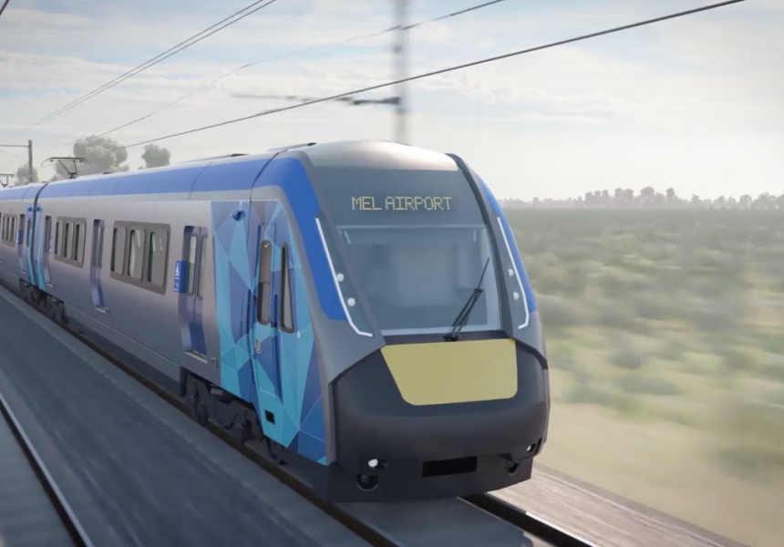 Artist's impression of the Airport Rail Link