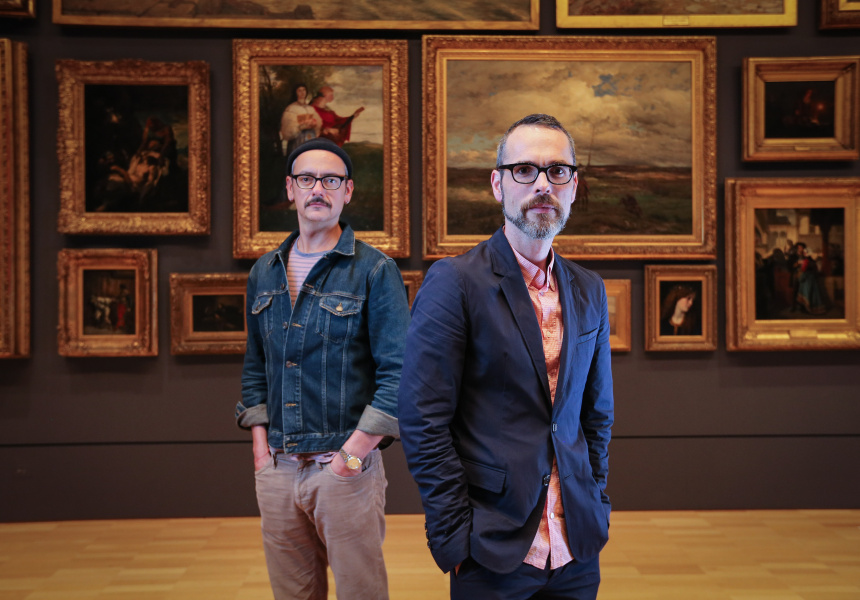 Rolf Snoeren and Viktor Horsting, Viktor&Rolf, at the National Gallery of Victoria, Melbourne photo: Wayne Taylor