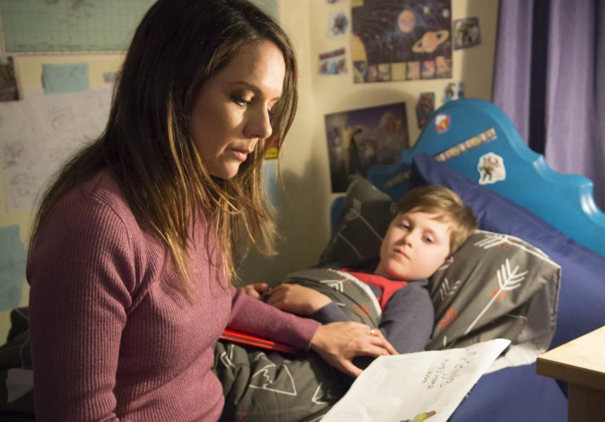 Michala Banas and Kieran Cochrane in Superheroes
