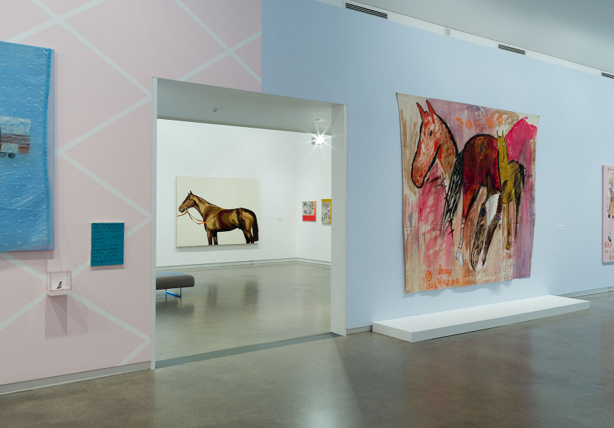 Jenny Watson: The Fabric of Fantasy. Installation view 2017. Heide Museum of Modern Art, Melbourne.