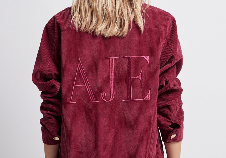 Aje Rebellion cord jacket
