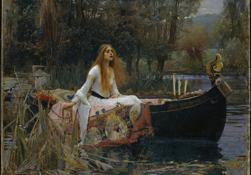 John William WaterhouseThe Lady of Shalott1888, oil on canvas, 153 x 200 cm, Presented by Sir Henry Tate 1894