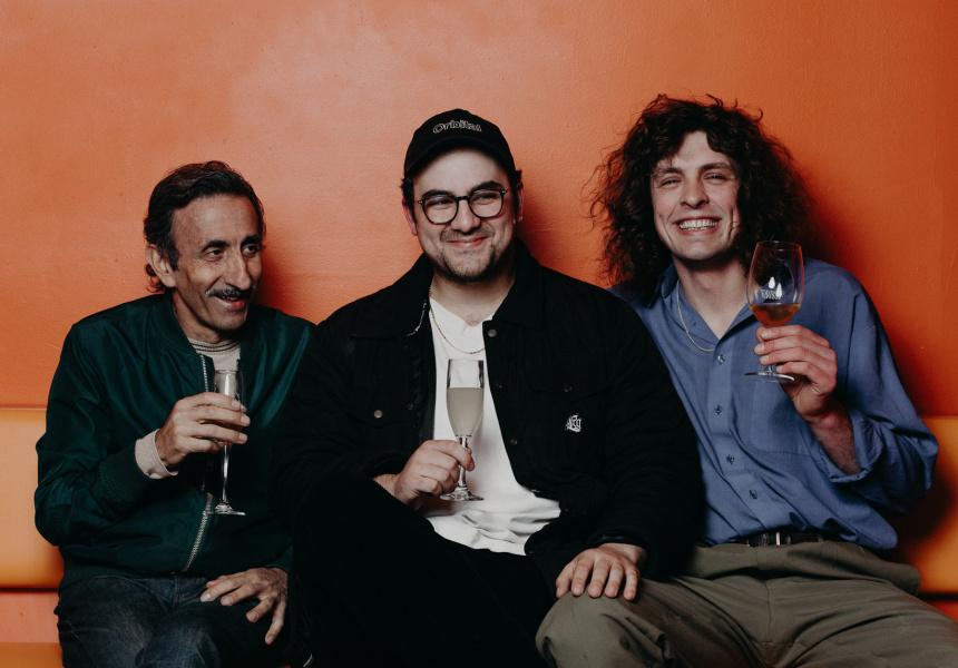 Carlo Colosimo, Benny Rausa and Liam Alexander