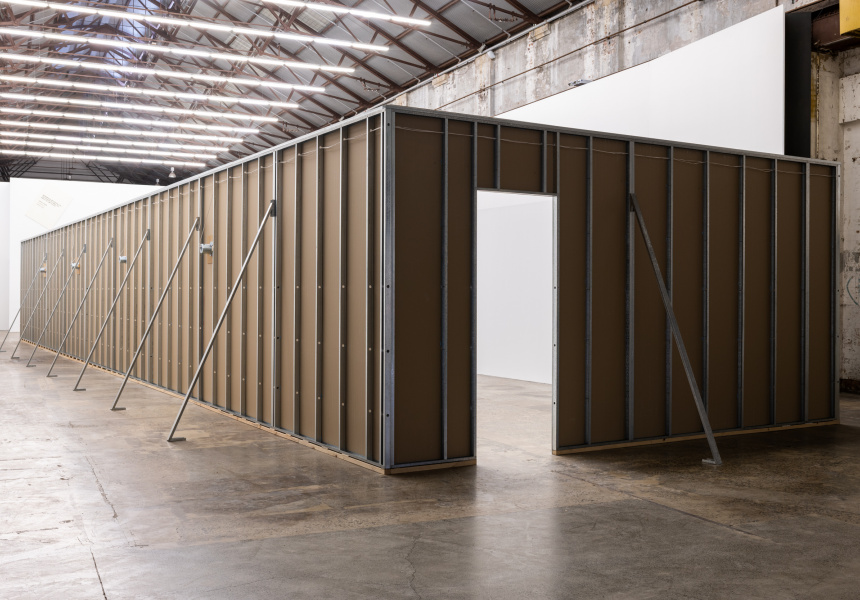 Mike Parr, The Eternal Opening, 2019, Carriageworks.