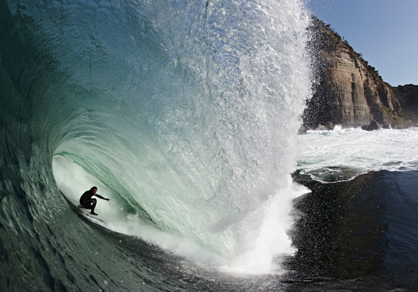 Dom Wills at Shipstern Bluff, Tasmania.