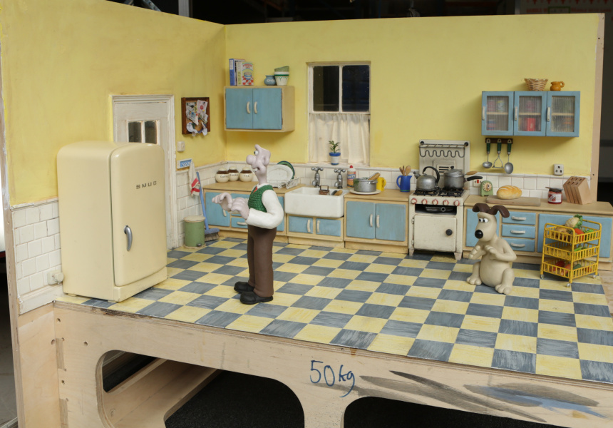 Wallace and Gromit kitchen set