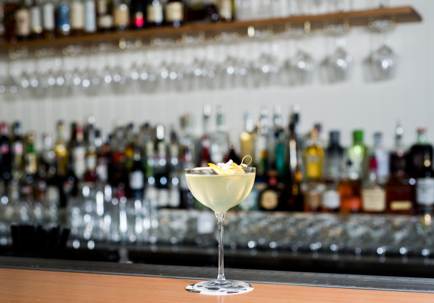 Mikee Collins of Vine demonstrates his Twist On the French 75 recipe.