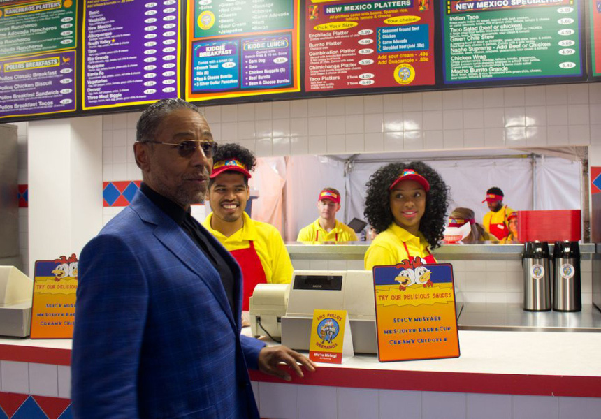 Los Pollos Hermanos pop-up in Los Angeles